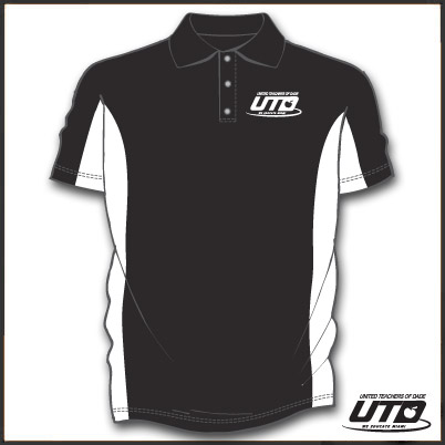 BKWFGSM. Men's Fancy Golf Shirt BLK/W