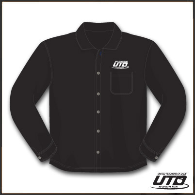 LSRBKTM. Men's Long Sleeve Black Twill